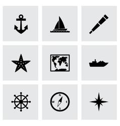 Nautical icon set vector