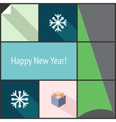 New Year flat interface vector image