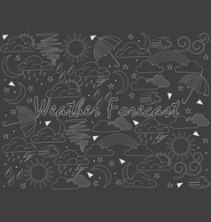 objects of linear art piece of chalk weather vector image