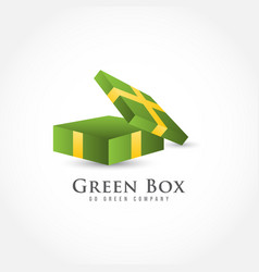 Out box template design vector