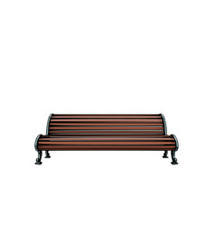 park bench isolate on white background vector image