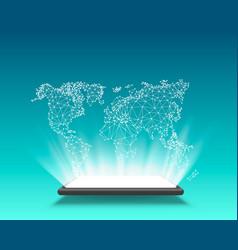 phone gps navigation map world vector image