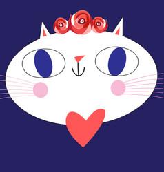 portrait of a funny big cat vector image