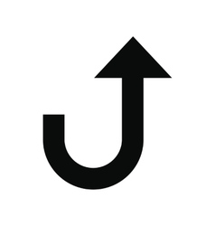 Road sign with turn symbol icon vector