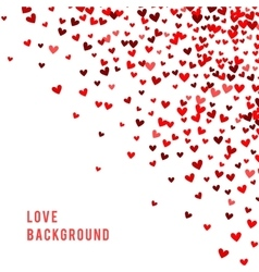 Romantic red background vector image