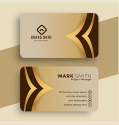 Royal golden business card template design vector