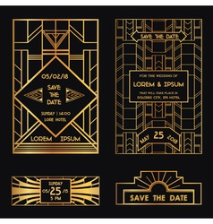 Save the Date - Wedding Invitation Card vector image
