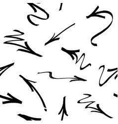 Seamless pattern of graffiti arrows drawn vector