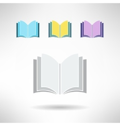 Set of simple book icons Notebook sign Learning vector