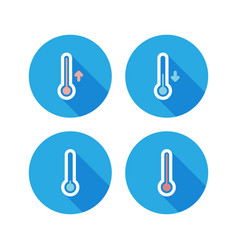 Set of thermometer icons vector