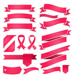 set ribbons and labels retro and vintage vector image