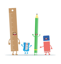 set school and office stationery supplies kit vector image