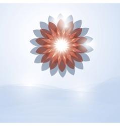 soft flower vector image
