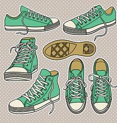 Sportshoes vector