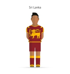 Sri Lanka football player Soccer uniform vector
