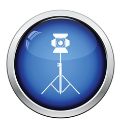 Stage projector icon vector image