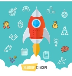Start Up Motivation Concept Flat vector