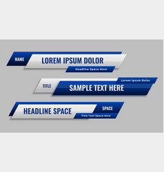 Stylish blue geometric lower third banner vector
