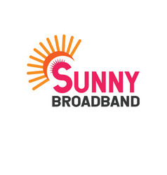 Sunny broadband vector