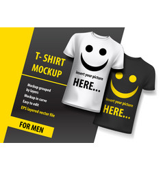 t-shirt mock up for men layered and ready to use vector image