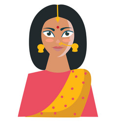 The traditional and beautiful indian woman or vector