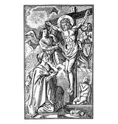 vintage antique religious allegorical biblical vector image