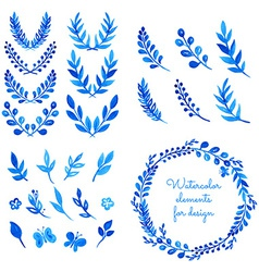watercolor elements vector image