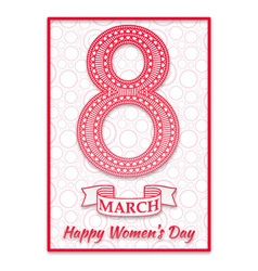 Women Day greeting card vector