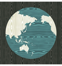 Wooden world shape concept vector image