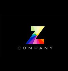 Z alphabet letter mosaic design vector
