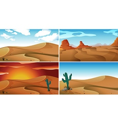Deserts vector image vector image