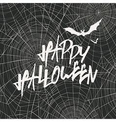 Happy Halloween Card Template Happy Halloween With vector image vector image