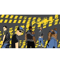 Rap artists on a black background vector image vector image