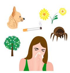 allergens infographic vector image