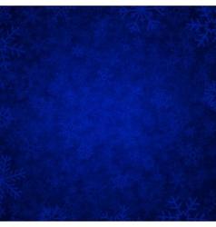 blue snow vector image vector image