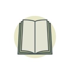 book coloful icon vector image vector image