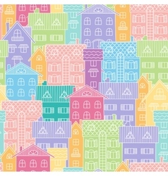 Colorful background of houses vector image vector image