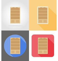 furniture flat icons 05 vector image