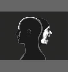 inner world of man vector image