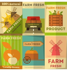 Organic Food Posters vector image