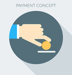 Payment concept Hand giving money Flat design vector image