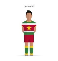 Suriname football player Soccer uniform vector image