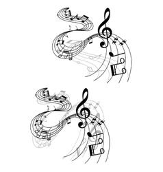 Abstract musical designs vector image