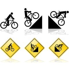 Bicycle signs vector image