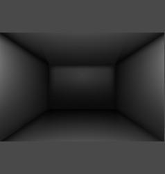 black simple empty room interior box for design vector image vector image