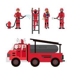 Firefighter Decorative Icons Set vector image vector image