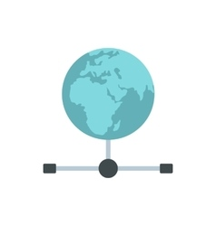 Globe icon in flat style vector image vector image