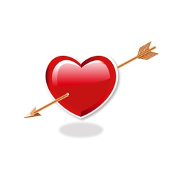 Heart And Arrow vector image vector image