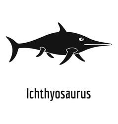 ichthyosaurus icon simple style vector image