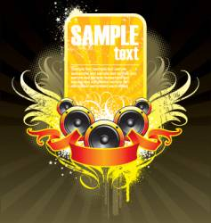 musical theme with loudspeaker vector image vector image